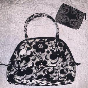 Vera Bradley night day black white flower bag
